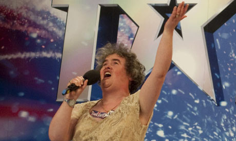 Britain's Got Talent: Susan Boyle (image from Guardian newspaper)